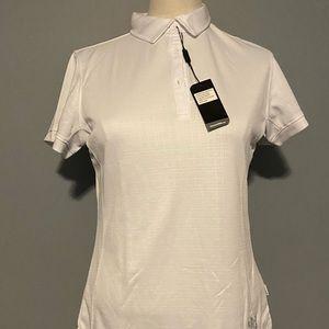 NWT woman's Loft8 white golf shirt